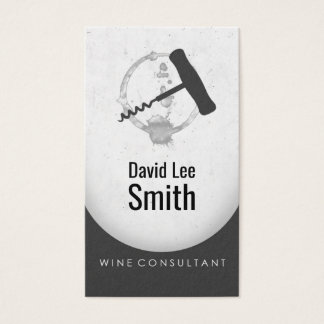 Cartão De Visitas Consultante do vinho