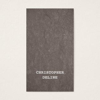 Cartão De Visitas Consultante elegante moderno de Brown da textura