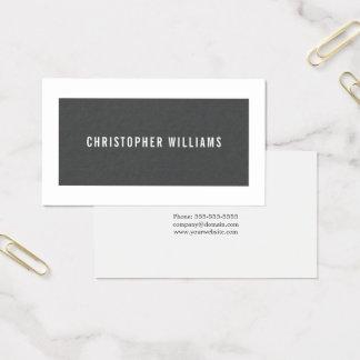 Cartão De Visitas Consultante elegante moderno do branco cinzento da