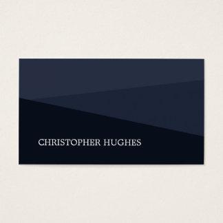 Cartão De Visitas Consultante geométrico azul elegante moderno