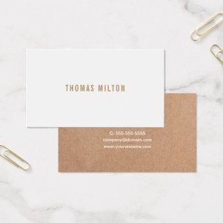 Cartão De Visitas Consultante impresso minimalista do branco de