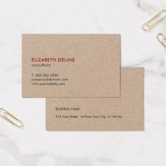 Cartão De Visitas Consultante legal elegante minimalista do papel de