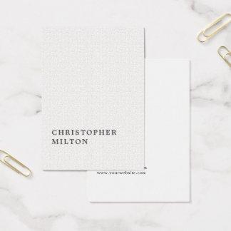 Cartão De Visitas Consultante minimalista elegante do branco da