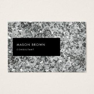Cartão De Visitas Consultante Profi Abstrakt moderno Grau