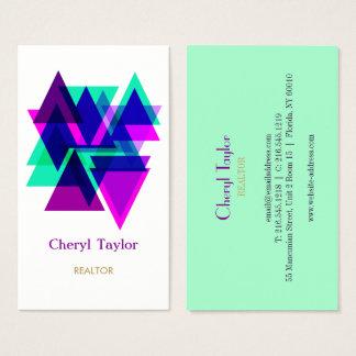 Cartão De Visitas Consultante profissional geométrico moderno do