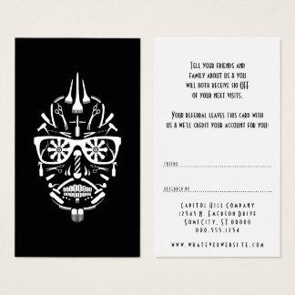 Cartão De Visitas consulte um calavera do punk do barbeiro do amigo