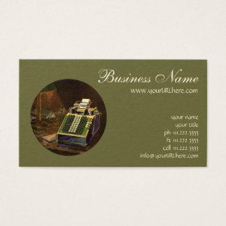 Cartão De Visitas Contador do negócio do vintage, máquina de