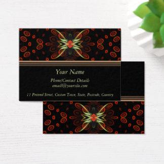 Cartão De Visitas Contato da borboleta do Fractal