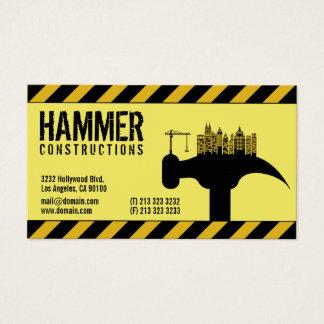 Cartão De Visitas Contratante moderno do construtor da construção
