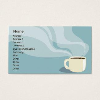 Cartão De Visitas Copo de café - negócio