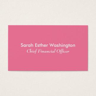 Cartão De Visitas Cor cor-de-rosa