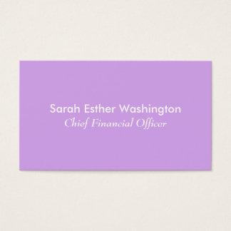 Cartão De Visitas Cor da lavanda
