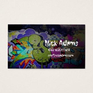 Cartão De Visitas Cor da pintura da gaveta do dançarino ou dos