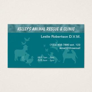 Cartão De Visitas Cor da U-picareta do doutor serviços animais do