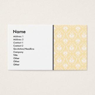 Cartão De Visitas Cor damasco elegante. Cor clara do ouro