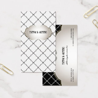 Cartão De Visitas Cor diy de PixDezines/treliça marroquina