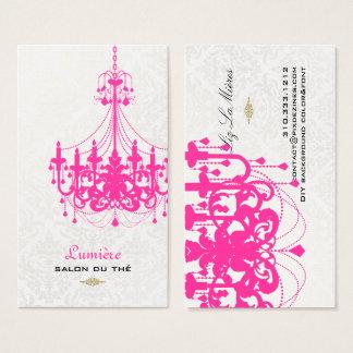 Cartão De Visitas Cor do rosa quente chandelier/DIY de PixDezines