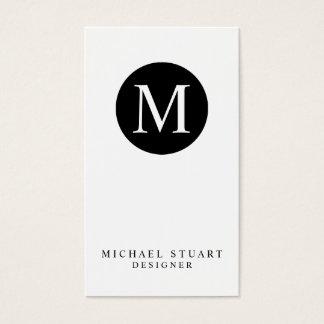 Cartão De Visitas Cor feita sob encomenda minimalista moderna