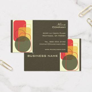 Cartão De Visitas Cor geométrica retro do fundo de Design/DIY!