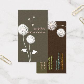 Cartão De Visitas Cor retro de PixDezines dandelions/DIY, lama