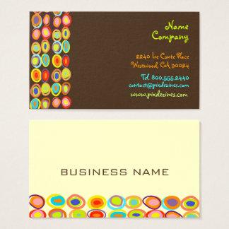 Cartão De Visitas Cor retro do fundo do design DIY de PixDezines