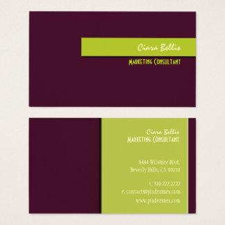 Cartão De Visitas Cor retro na moda à moda de colors/DIY