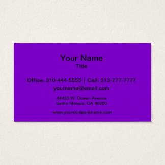 Cartão De Visitas Cor sólida simplesmente roxa