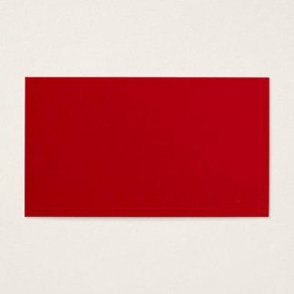 Cartão De Visitas Cor vermelha lisa