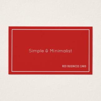 Cartão De Visitas Cor vermelha minimalista