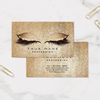Cartão De Visitas Cora o brilho dourado dos olhos da composição dos
