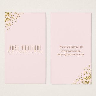 Cartão De Visitas Cora o chique elegante dos cantos cor-de-rosa dos