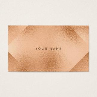 Cartão De Visitas Cora o pêssego metálico de cobre cor-de-rosa da