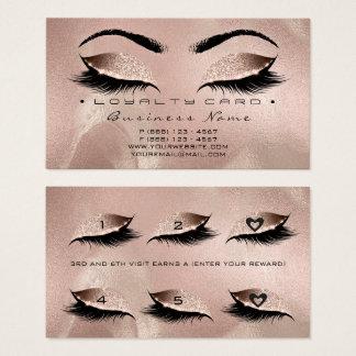 Cartão De Visitas Coração cor-de-rosa do ouro do chicote do salão de