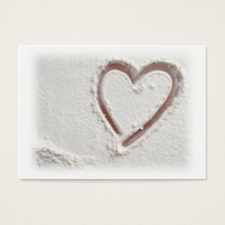 Cartão De Visitas Coração da areia