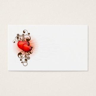 Cartão De Visitas Coração-e-Redemoinhos