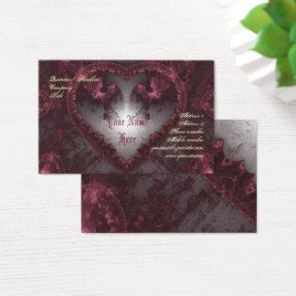 Cartão De Visitas Coração gótico roxo 001