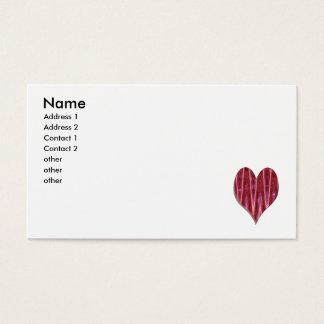 Cartão De Visitas coração vermelho do fulgor