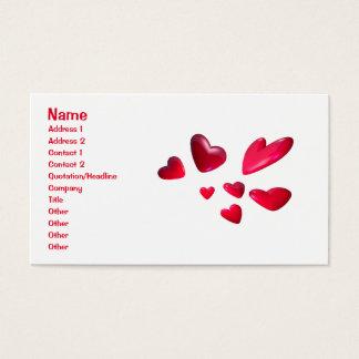 Cartão De Visitas Corações vermelhos - negócio