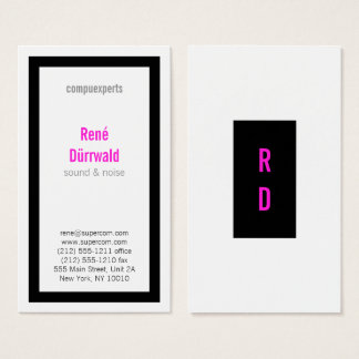 Cartão De Visitas Corajoso, bom ler, enegreça e magenta