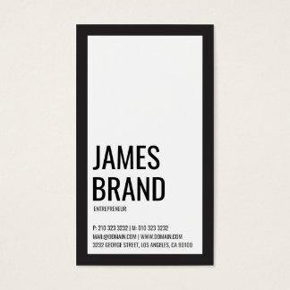 Cartão De Visitas Corajoso minimalista preto e branco