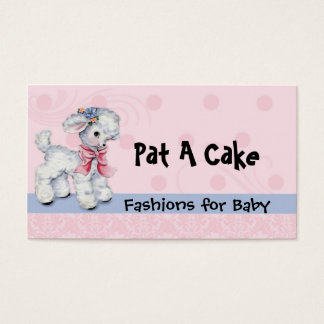 Cartão De Visitas Cordeiro infantil e de crianças do desgaste do