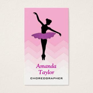 Cartão De Visitas Coreógrafo bonito da dança do balé do dançarino da