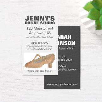 Cartão De Visitas Coreógrafo do estúdio do professor da dança dos