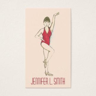 Cartão De Visitas Coreógrafo profissional do professor da dança do