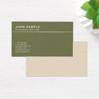 Cartão De Visitas Cores clássicas do design de Minimalistic