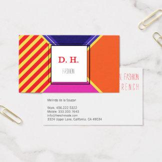 Cartão De Visitas Cores legal frescas da forma