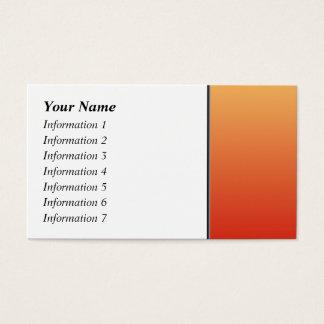 Cartão De Visitas Cores mornas, projeto da planície