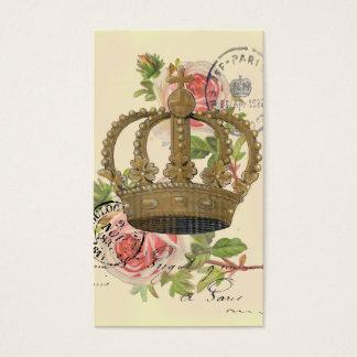 Cartão De Visitas Coroa e rosas