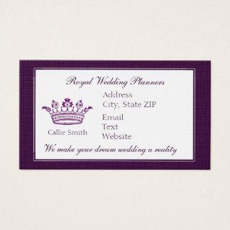 Cartão De Visitas Coroa roxa clássica