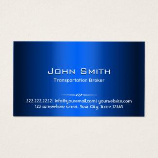 Cartão De Visitas Corretor azul do transporte do metal